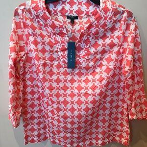Talbots patterned shirt
